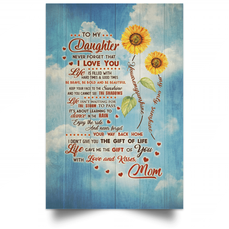 Download To My Daughter Poster from Mom | To My Daughter Never ...