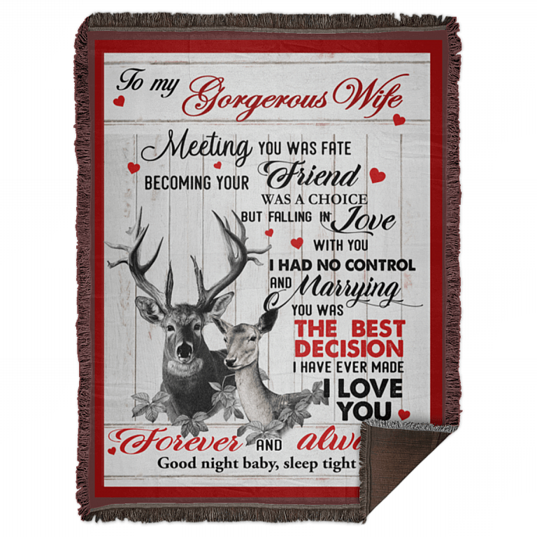 Deers Couple To My Wife I Love You Forever /& Always Fleece Blanket 60x80