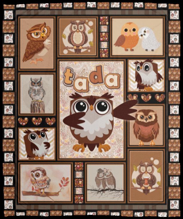 Owl Blanket Funny Owl Tada Fleece Blanket Premium Sherpa Blanket Cubebik