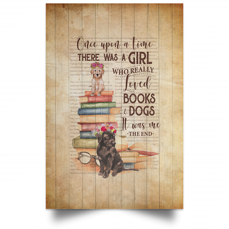 Black Cat The Time There Was A Girl Who Really Loved Books /& Cats Canvas Framed