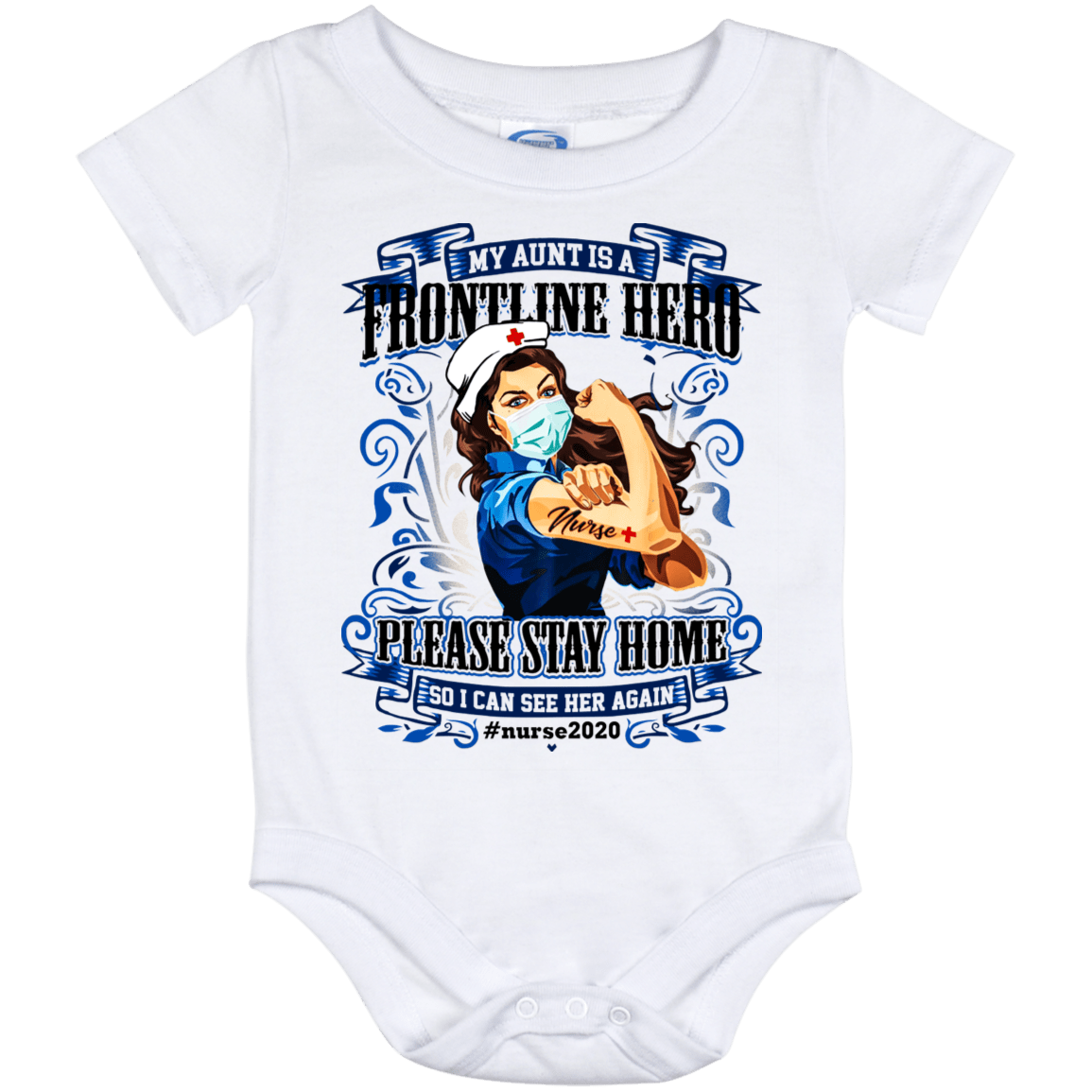 Baby Girl Bodysuits Retro Vintage Nurse Baby Clothes