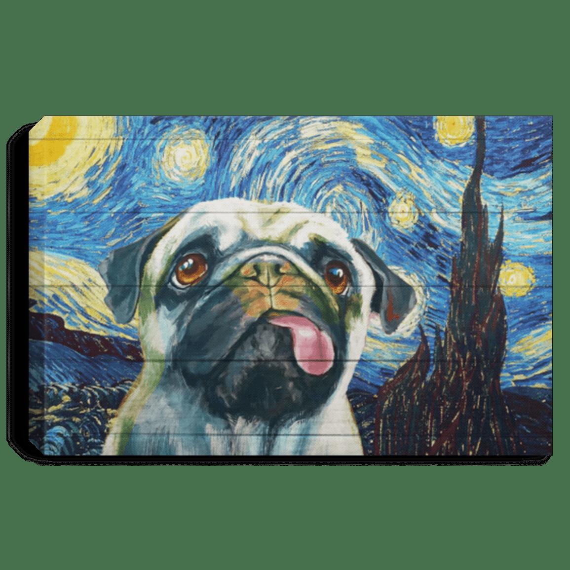 Cool Pug Selfie Wall Art Canvas Wall Art Picture Print