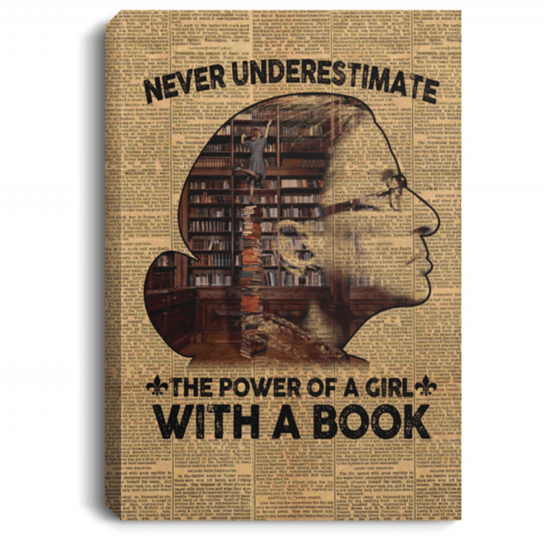 Ruth Bader Ginsburg Book Wall Art Ruth Never Underestimate The Power Of A Girl Cubebik