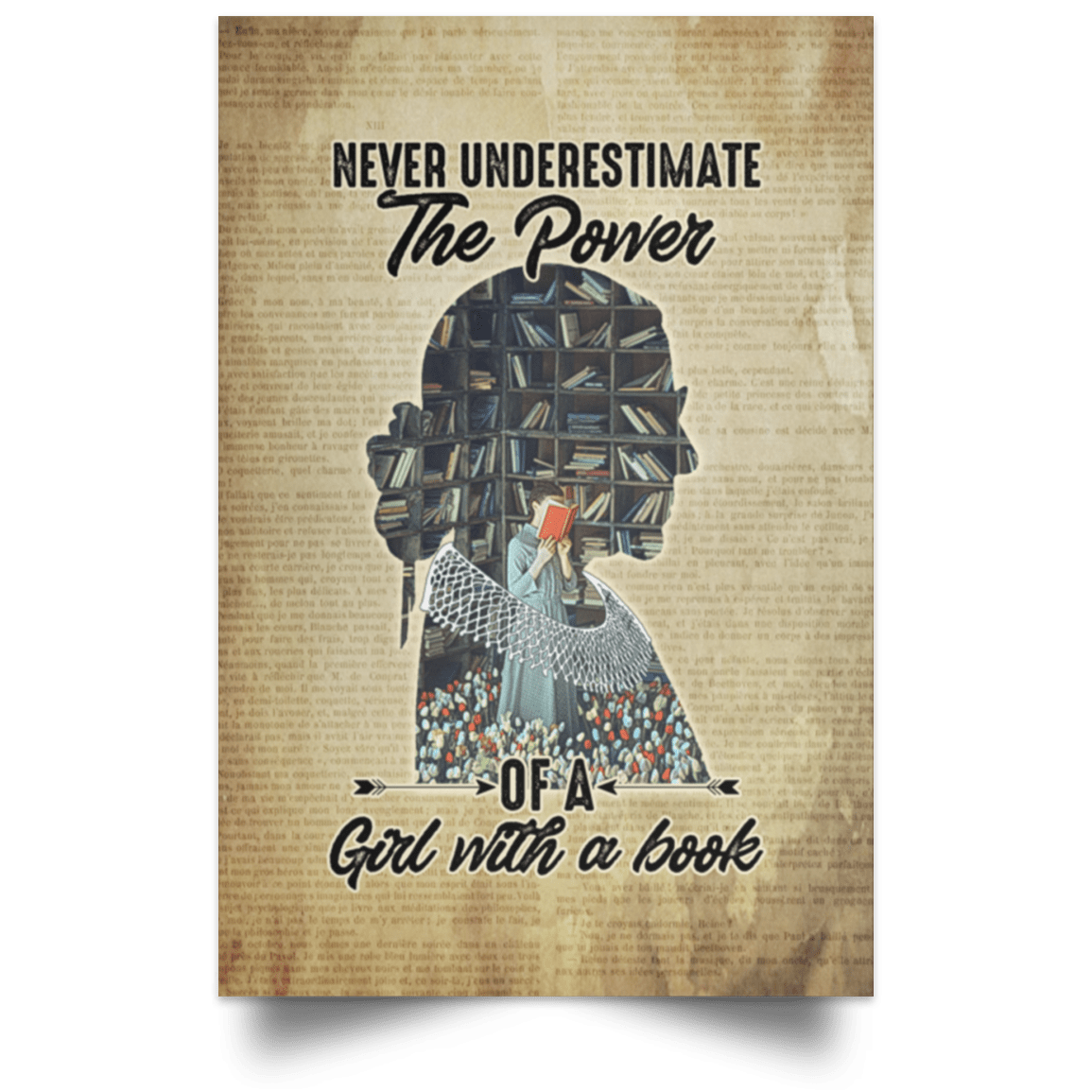 Feminist Canvas Art Never Underestimate The Power Of A Girl With A Book Canvas Cubebik