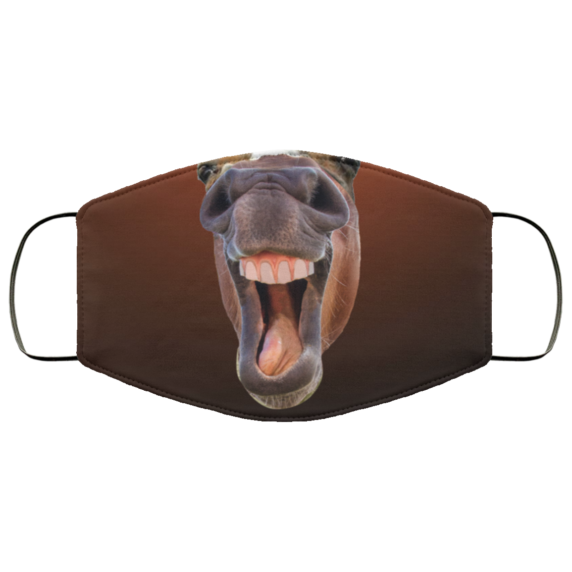 Funny Horse Laughing Face Gift Mask Cubebik