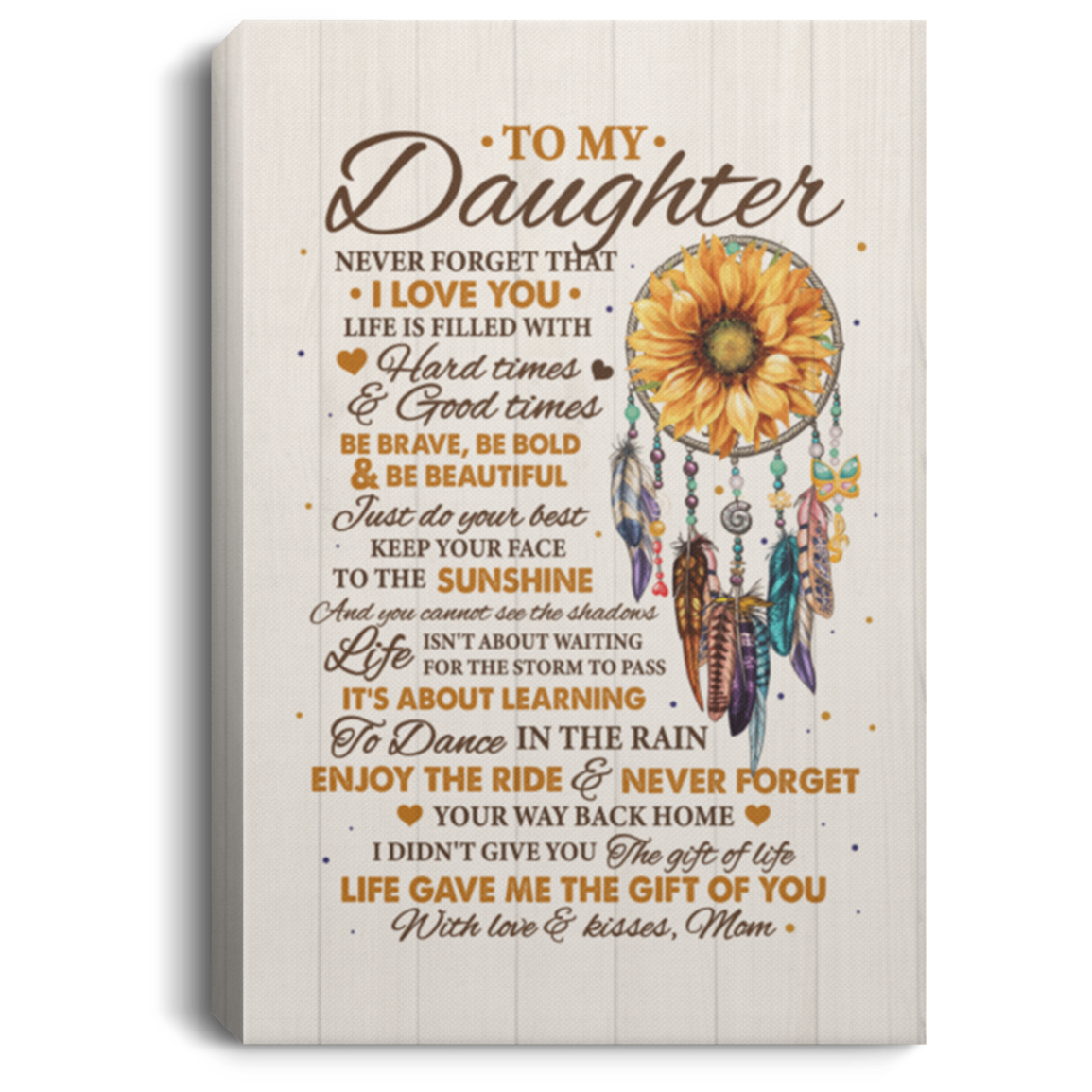 Download Sunflower To My Daughter Canvas   To My Daughter Never ...