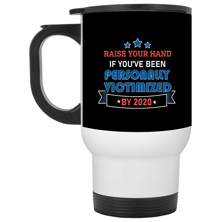 14 oz. White Travel Mug