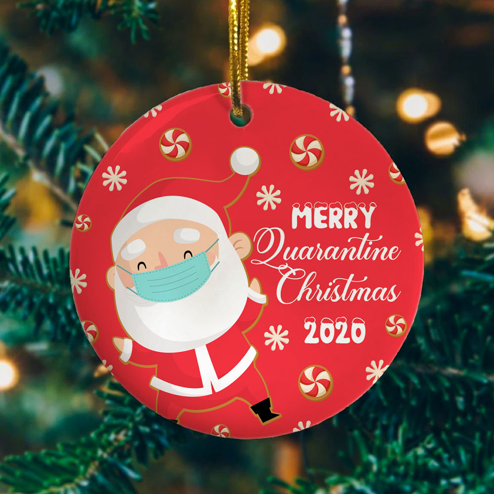 Ceramic Holiday Decor Friends Quarantine Merry Christmas Ornaments Gift Holiday XMAS Tree Ornament 2020 The One Where We Were Quarantined Social Distancing Funny Novelty